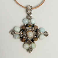Amazonite  & quartz star