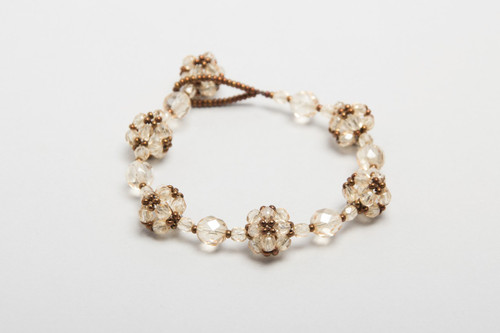 knitted crystal bracelet