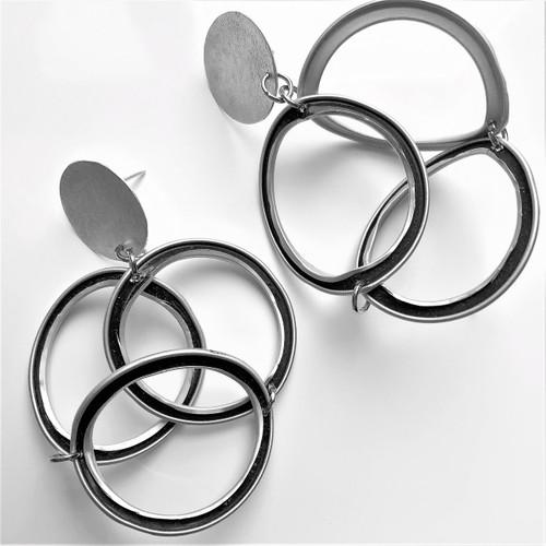 3 loop earrings