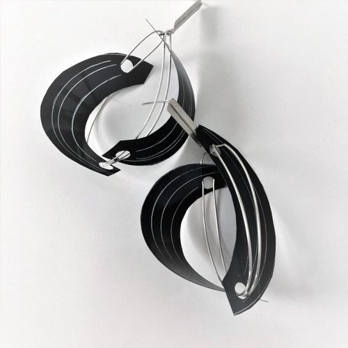 large X-Ray -silver earrings