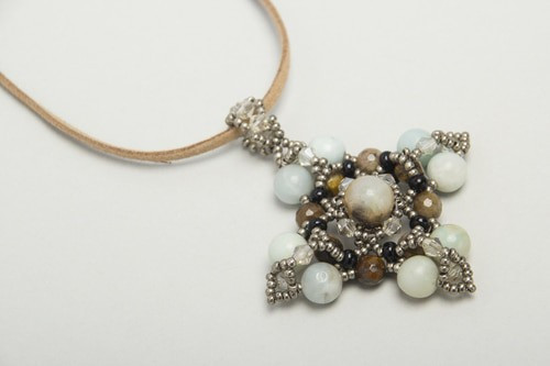 Amazonite  & quartz star