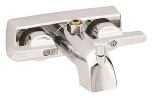 Empire Faucet Mobile Home Metal Tub/Shower Diverter with Lever Handles and Brass Stems - Chrome