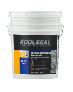 Kool Seal Premium 10-Year Elastomeric Coating - White - 5 Gallon - 1