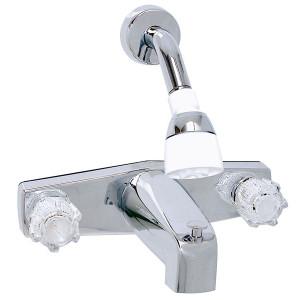 Phoenix Faucets 2-Knob Tub Diverter Faucet with Shower Head 8 Inch Chrome-1