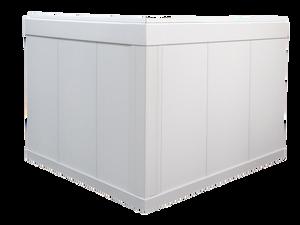 Style Crest Titan Xterior Prime Foundation Skirting Panel White-Corner View