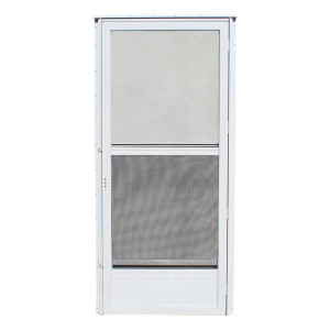 Kinro Mobile Home Storm Door 76 Inch Tall Right Hand White-1