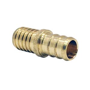 Crown Industries 12 Inch x 12 Inch Brass PEX Barb Polybutylene Coupling-1