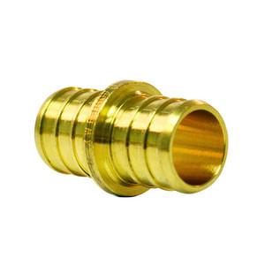Crown Industries Brass PEX Barb Coupling-1