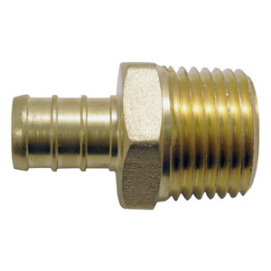 Crown Industries 12 Inch Brass PEX Barb x 12 Inch MPT Adapter-1