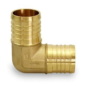 Crown Industries 38 Inch x 38 Inch Brass PEX  Barb 90 Degree Elbow-1