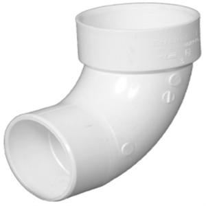 Lesso 3 Inch PVC DWV 90 Degree Slip x Hub Street Elbow-1