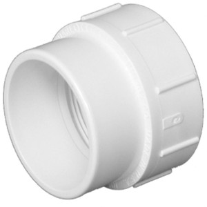 Lesso 3 Inch PVC DWV Cleanout Adapter-1