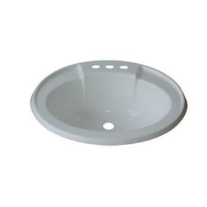 V.P. Products 17 Inch x 20 Inch Oval Lavatory Sink-1