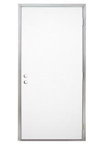 Pocahontas 36 Inch x 80 Inch Commercial Heavy-Duty Steel Mobile Home Door Double Bore-1