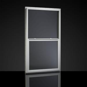 MI Windows Single-Hung Dual-Pane Mobile Home Vinyl Window White-1