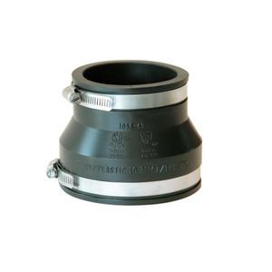4 Inch x 3 Inch PVC DWV Mechanical Flexible Coupling-1