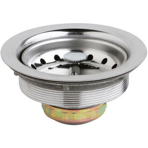 3.5 Inch 4 Inch Kitchen Sink Drain with Removable Basket Strainer and Rubber Stopper-1