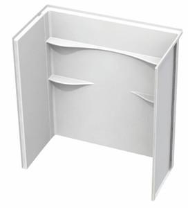 "54"" x 27"" AcrylX 3-Piece Fiberglass Tub and Shower Surround Wall - White"