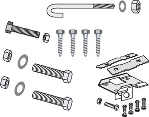 Tie Down Engineering Standard I-Beam Hardware Kit-1
