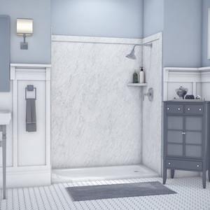 Flexstone Elite Shower Wall Surround Kit - Frost - 1