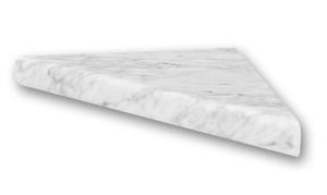 Flexstone Corner Shelf for Bathtub and Shower Wall Surround Kits - Frost - 1