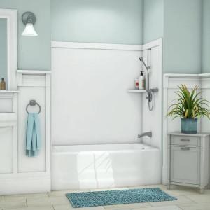 """54"""" x 27"""" x 60"""" Flexstone Elite Bathtub Wall Surround Kit - White - 1"""