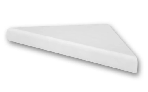 Flexstone Corner Shelf for Bathtub and Shower Wall Surround Kits - White - 1