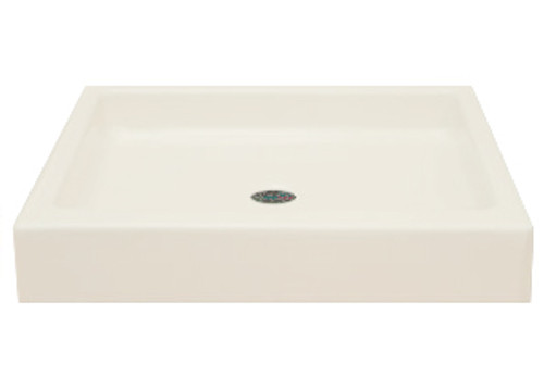 Better Bath Mobile Home ABS Shower Pan 32 Inch x 32 Inch Center Drain Almond-1