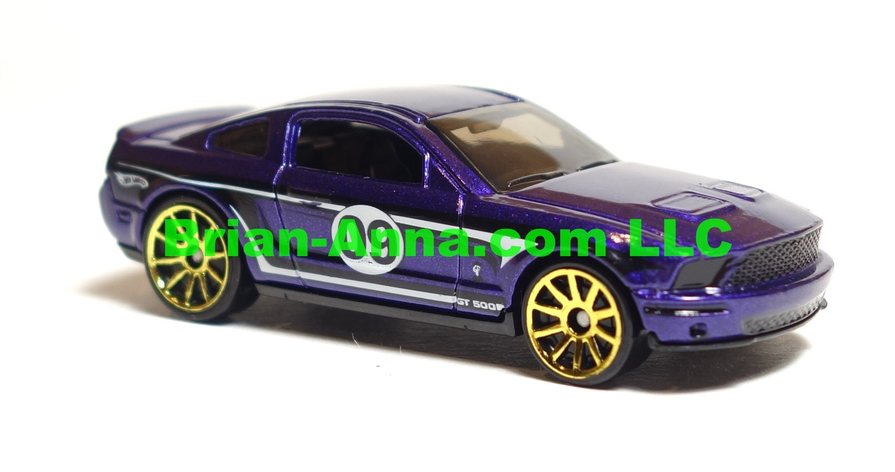 Hot wheels 2009 mystery car 07 ford mustang shelby gt500 in purple loose