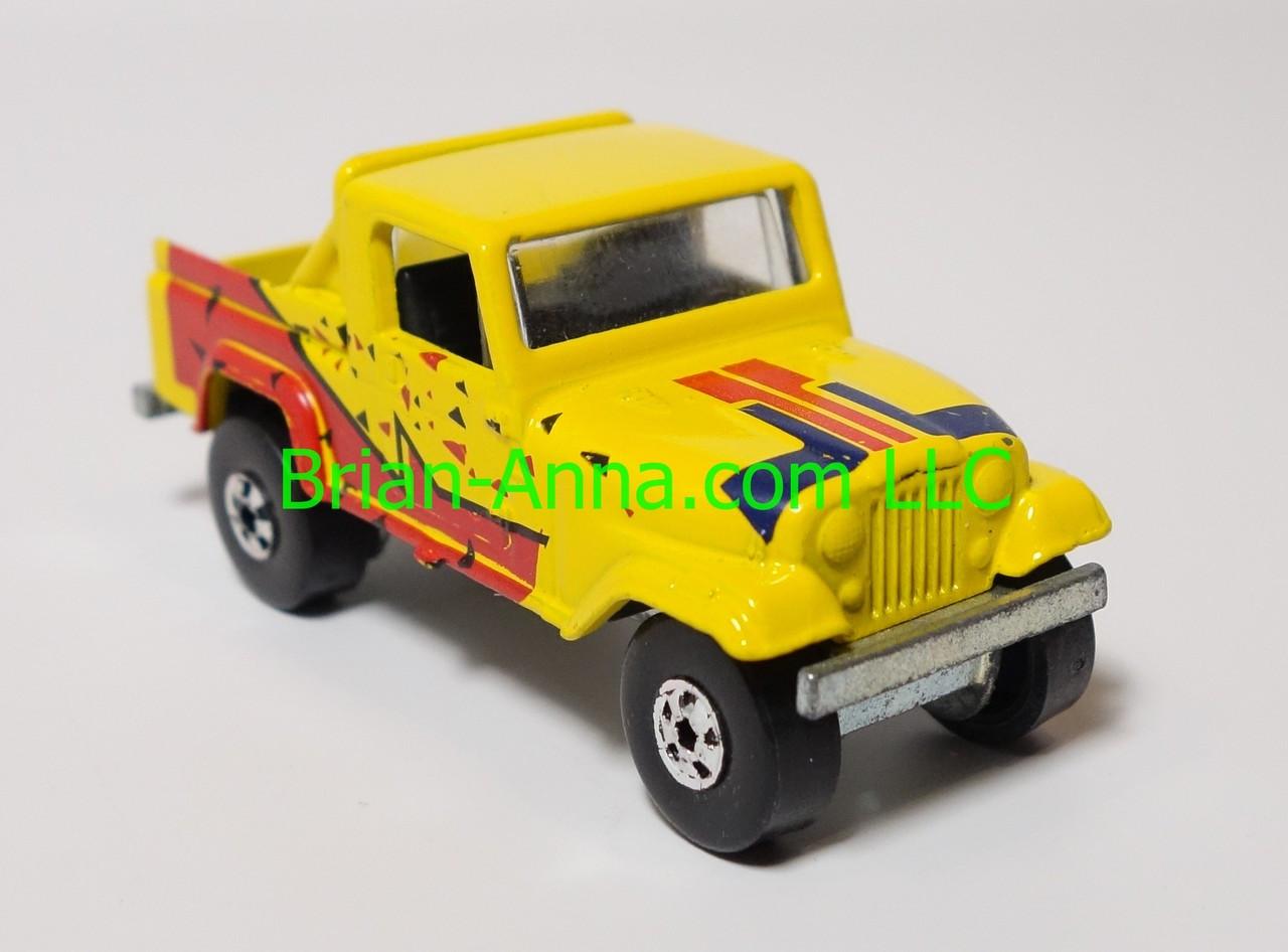 Hot Wheels Leo India Mattel Jeep Scrambler In Yellow Blackwall Wheels Loose Ms3india 628