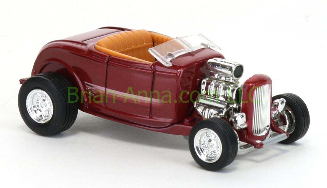 Hot Wheels 32 Ford Hi Boy Roadster Dark Red China Base Loose