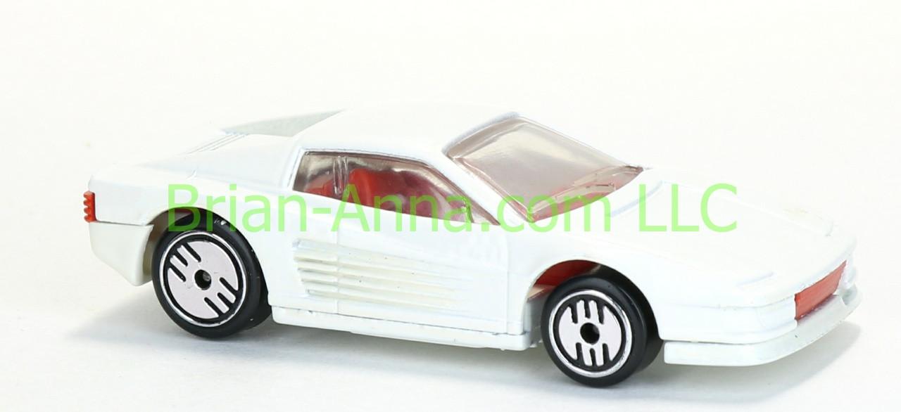 Hot Wheels Ferrari Testarossa Glossy White Uh Wheels Malaysia Base