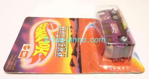 Hot Wheels Leo India Mattel Purple GMC Motor Home, Spider-Man tampo  artwork, blisterpack (ms3india-231)