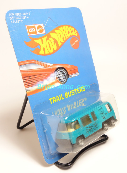 Hot Wheels Leo Mattel India, BP, GMC Motorhome, Teal, Spiderman tampo (0232)