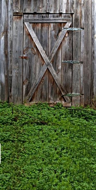 Grass And Barn Door 3d Backdrop Owens Originals Backdrops