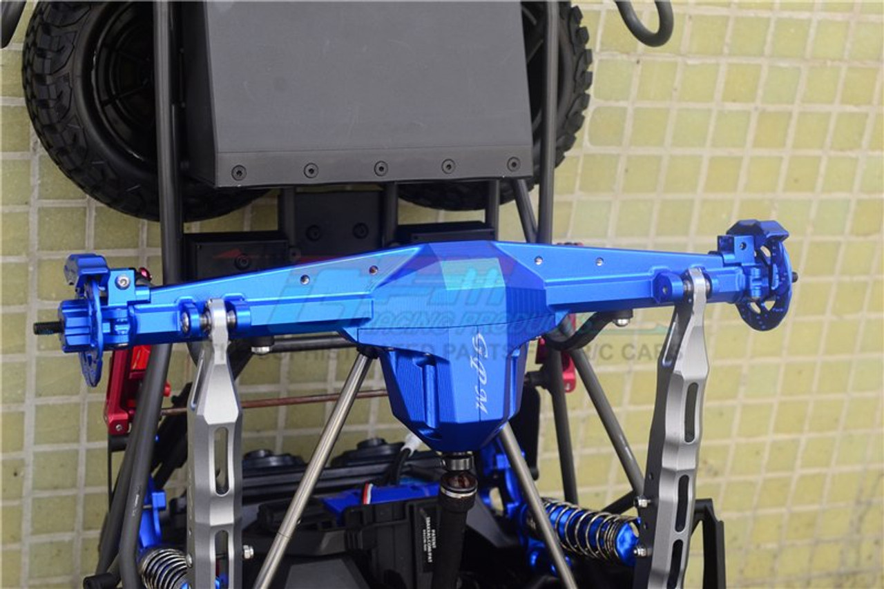 GPM Racing Aluminum Rear Axle Case Carrier Silver Unlimited Desert Racer