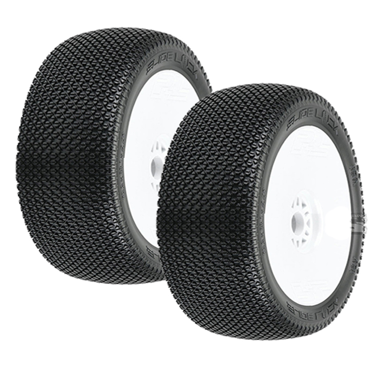 Rims Front Rear 17mm Hex White Kyosho 4WD 1//8 Inferno MP10: Dish Wheels