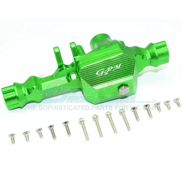 GPM Racing Aluminum Front Gear Box (1) Set Green : TRX-4 / TRX-6
