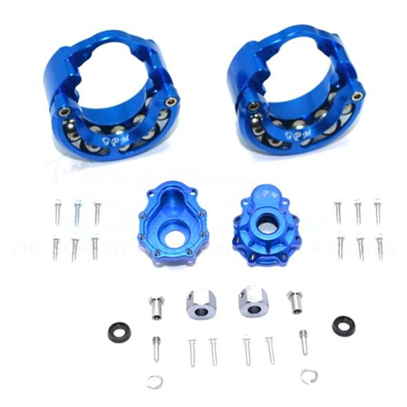 GPM Alum Pendulum Whl Knuckle Axle Weight +9mm Hex Adapter Blue : TRX-4 / TRX-6