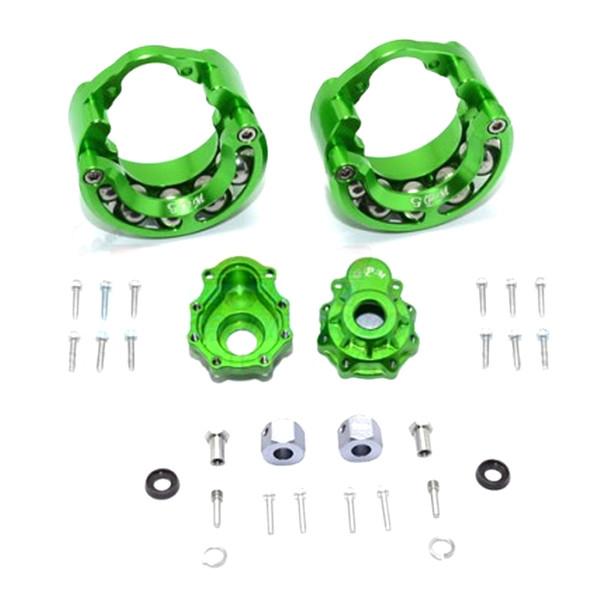 GPM Alum Pendulum Whl Knuckle Axle Weight +9mm Hex Adapter Green : TRX-4 / TRX-6