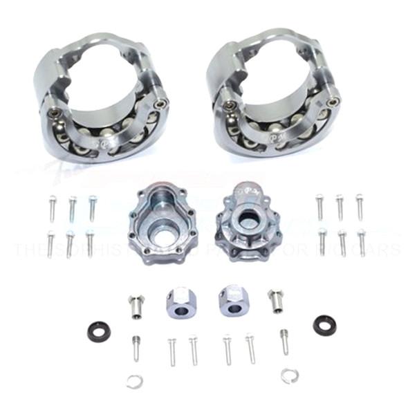 GPM Alum Pendulum Whl Knuckle Axle Weight +9mm Hex Adapter Grey : TRX-4 / TRX-6