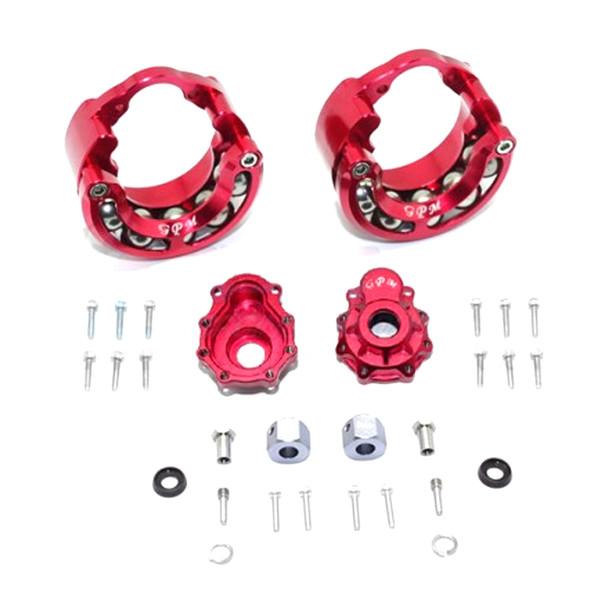 GPM Alum Pendulum Whl Knuckle Axle Weight +9mm Hex Adapter Red : TRX-4 / TRX-6
