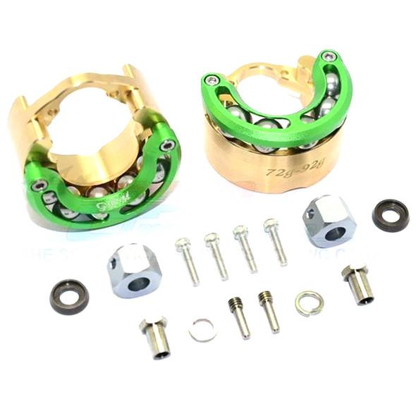 GPM Brass Pendulum Whl Knuckle Axle Weight +9mm Hex Adapter Green : TRX-4 / TRX-6