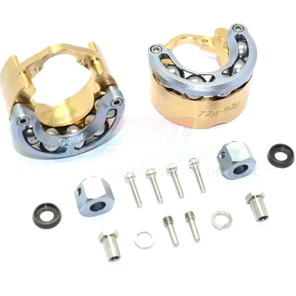 GPM Brass Pendulum Whl Knuckle Axle Weight +9mm Hex Adapter Grey : TRX-4 / TRX-6