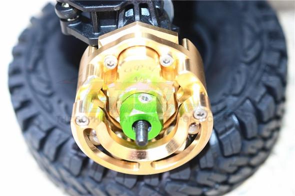 GPM Brass Pendulum Whl Knuckle Axle Weight +9/12mm Hex Wideners : TRX-4 / TRX-6