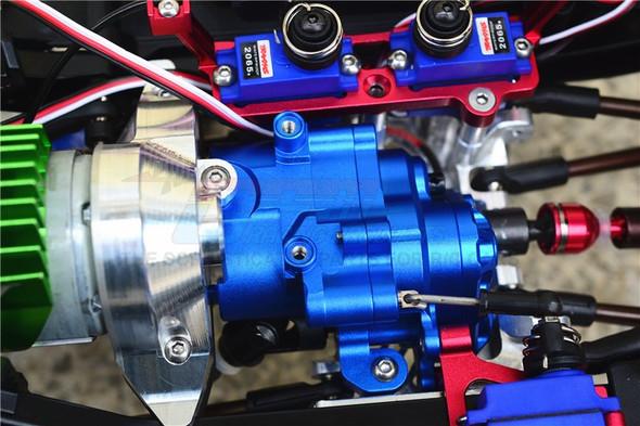 GPM Racing Aluminum Center Gearbox (17Pcs) Set Blue : TRX-4 / TRX-6