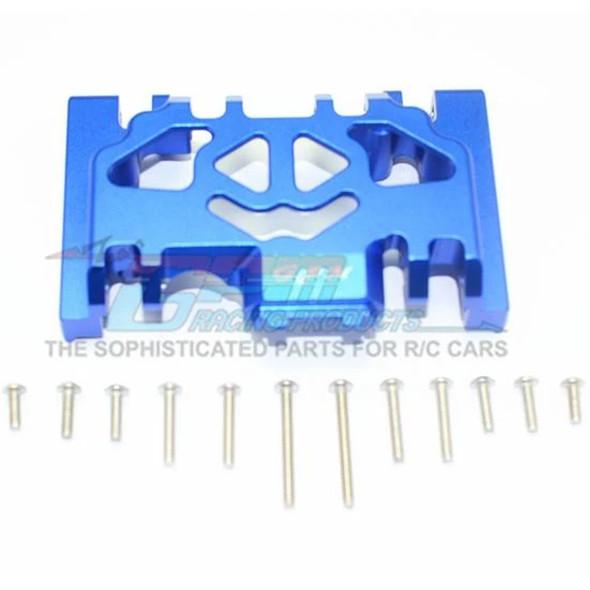 GPM Racing Aluminum Lower Gear Cover (13Pcs) Set Blue : TRX-4 / TRX-6