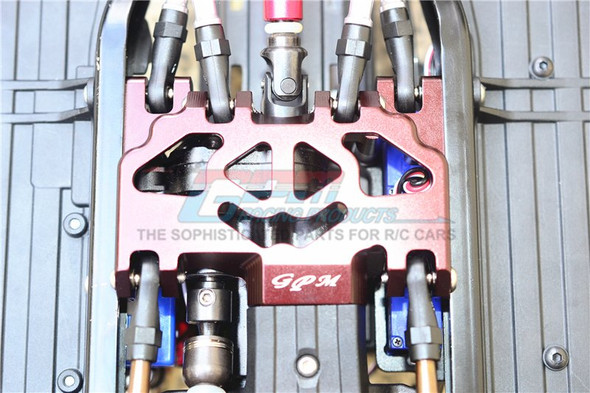 GPM Racing Aluminum Lower Gear Cover (13Pcs) Set Grey  : TRX-4 / TRX-6