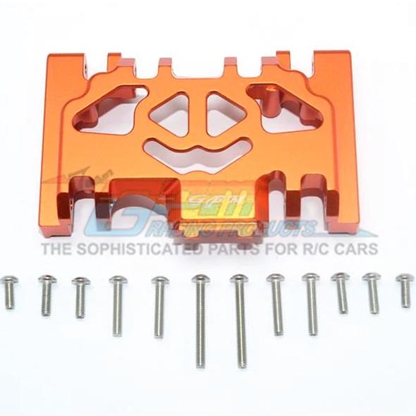 GPM Racing Aluminum Lower Gear Cover (13Pcs) Set Orange : TRX-4 / TRX-6