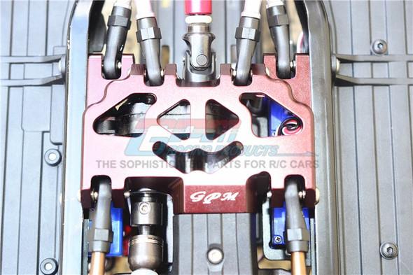 GPM Racing Aluminum Lower Gear Cover (13Pcs) Set Red : TRX-4 / TRX-6